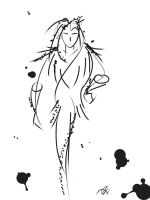 expressive ink woman by Malici0us