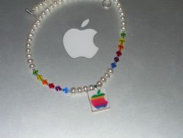 Apple Logo Necklace by AppleComputerGirl