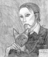 Erik and Ayesha in pencil by Doublevisionary