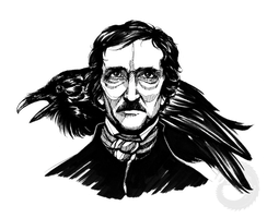 Edgar Allan Poe Ink by Simkaye