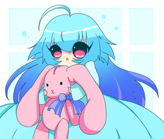 Girl With Bunny by Candy-hime