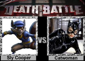 Death Battle: Sly Cooper vs Catwoman by Porygon2z
