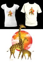 Giraffes T-shirt design by moiret