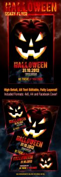 Halloween Scary Flyer by PVillage