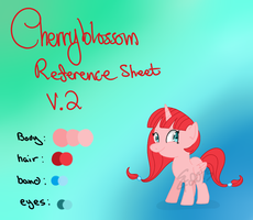 Cherryblossom: New reference Sheet by LissyAnneChan