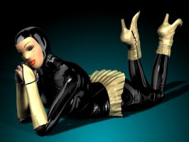 rubberdoll pose by elenaevil