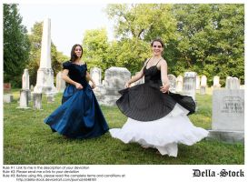 Twirly Dresses by Della-Stock