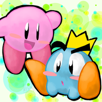 Kirby And Prince Fluff by Chocolatewoosh