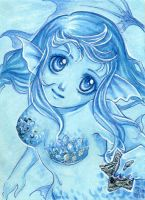 Deep Blue - ACEO Nr. 088 by Apfelkeks
