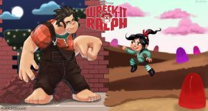 Wreck it Ralph Collab by Purpleground02
