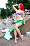 Ariel by the fountain by AlisaKiss