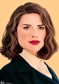 Peggy Carter / Krita Painting by theclumsyandshy