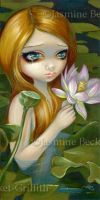Mermaid Picking Lotus Blossoms by jasminetoad