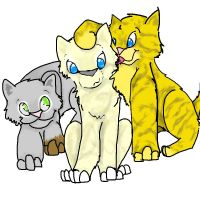 Brightpaw, Mothpaw, and Ivypaw by Sketchly