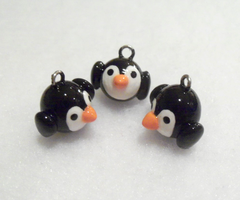 Cute Baby Penguin Charms by MariposaMiniatures