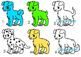 Puppies adoptables 1 by Theedgeofart
