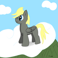 Pony above a Forest by Hunch89