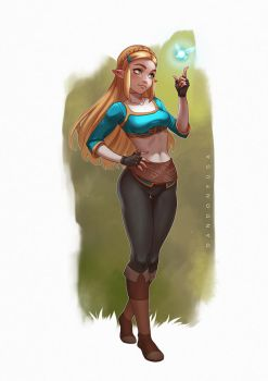 Zelda (Breath of the Wild) by dandonfuga