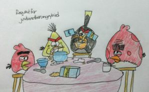 Angry Birds - Bomb vs. Chuck (Breakfast) by AngryBirdsStuff