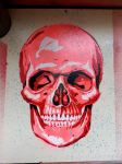 Coloured Skull Stencil by justbelikeshadow