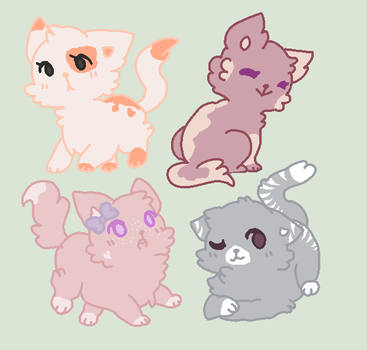 ||CLOSED|| 2 Point Kitten Adopts by UnconsciousEcho