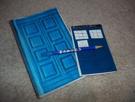 Doctor Who Notebooks and Pencil by DragonsAndDreamscape