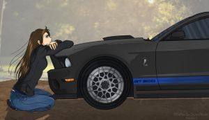 A Girl and Her Car by FireFlea-San
