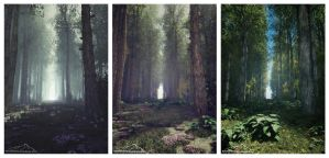 Triptych by 3DLandscapeArtist