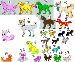 Old Unsold Adoptables for Sale!! [CHEAP / OPEN] by KatieCrace32100