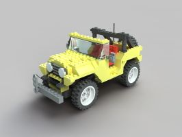 Jeep Lego by santiagocamps