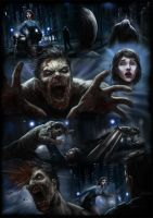 Zombie comic page by ogilvie