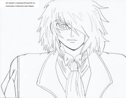 Another Sexy Alucard, Outline by MeghansDreamDesigns