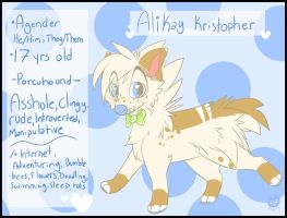 Second fursona Ref +Official 2015+ by Crazy-Corners