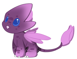 [CLOSED] Purple flower floradragon by Ayinai