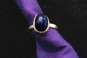 Sapphire Kyanite Ring set in Silver Plated Brass by lilibat