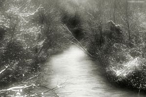 Sangro river with snow by GiovanniSantostefano