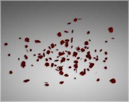 Falling Rose Petals by deexie