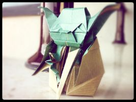 Origami Master Yoda - take two by kiddophoto