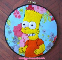 Bart Simpson Embroidery by iggystarpup