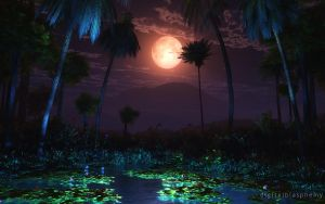 Moonlit Oasis by dblasphemy