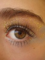 Silver and Gold Eye stock 1 by Capoodra-StockImages