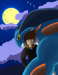 Alkner + Mega Swampert by Alk-Crazy