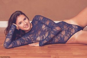 Alli in the AA Lace Bodysuit and Socks 10 by RaymondPrax