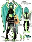 Commission 012 - Jade ref. by Horus-Goddess