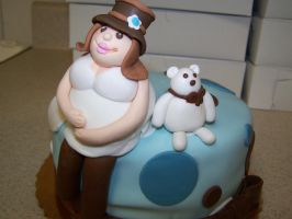 Pregnant lady cake topper by perpetuousdreemr