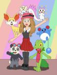 Serena and her Pokemon by MCsaurus