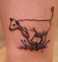 Cow tattoo by tpenttil