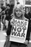 Make School, Not War - Giulia by MicolSMorton
