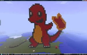 Minecraft  Charmander pixelart by Nyeep