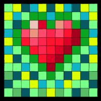 Heart Cool Colors w Gold by kathy-lu